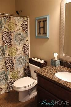 Decoration Ideas For Bathroom Tgif House Tour Guest Bathroom The Hamby Home
