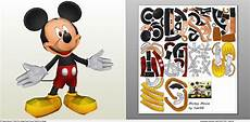 papercraft pdo file template for disney mickey mouse