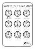 Cool Coloring Pages Write The Time No1
