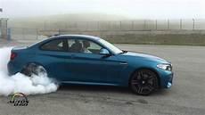 2016 bmw m2 coupe burnout at laguna seca youtube