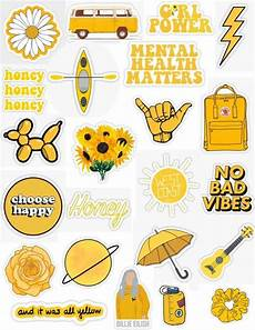 yellow orange sticker pack sticker by lauren53103
