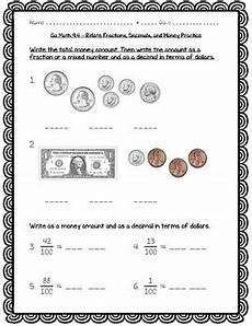 money worksheets decimals 2112 go math practice 4th grade chapter 9 relate fractions and decimals