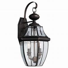 sea gull lighting lancaster 2 light bronze outdoor wall fixture 8039 71 the home depot