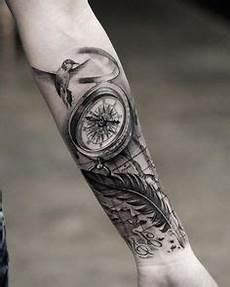 Feder Unterarm - 100 awesome compass designs tattoos compass