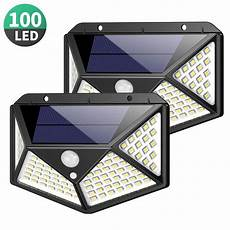 Solar Bright Deck Battery Ls Outdoor by 2 Pack Porch Deck Bright 100 Led Solar Lights