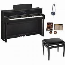 yamaha clp 675 clavinova digital piano black walnut