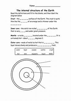 layers of the earth worksheet 14 best images of worksheets layers of the earth earth s