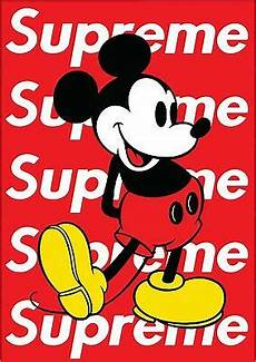 Mickey Mouse Wallpaper Supreme by Supreme X Mickey Mouse Poster Hype Special A1 Large Glossy