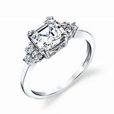 sterling silver bridal asscher cut cz engagement wedding ring cubic zirconia ebay