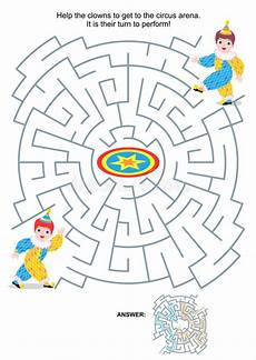 maze for clowns stock vector