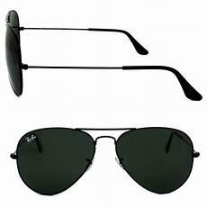 ban sunglasses aviator 3025 l2823 black green g 15