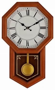 honor pine wood case pendulum wall clock modern clocks by lexmod