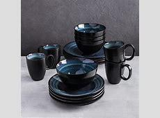 Oneida Adriatic Stoneware Dinnerware Round   Set of 16