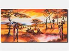 tableau africaines au bord de l eau tableau africain