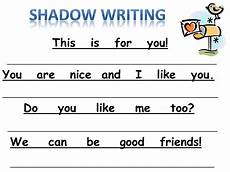 for the love of kindergarten new shadow writing freebie for s day