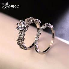 90 off bamos white ring luxury 925 silver ring vintage wedding band promise