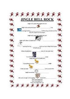 jingle bell rock lyrics esl worksheet by sidhe