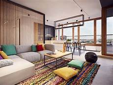 a stunning apartment with colorful geometric colorful modern apartment design uses space to beautiful