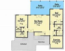 one level house plans with walkout basement one level craftsman home plan with walk out basement