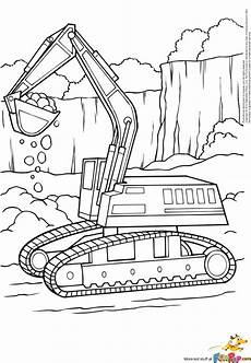 coloring pages free printable excavator coloring page to