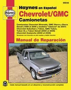 small engine repair manuals free download 2005 chevrolet silverado 1500 lane departure warning spanish language chevrolet y gmc haynes manual de