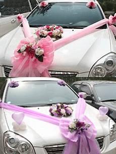 wedding car decoration d 233 coration voiture de mariage wedding car decorations wedding car wedding car decorations pink and purple colors of