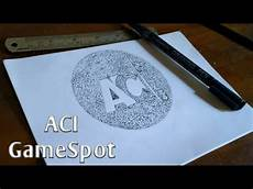 Menggambar Logo Aci Gamespot Dengan Teknik Pointilis