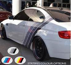 for bmw coloured sport stripes back side car vinyl decal sticker motorsport graphics car wraps
