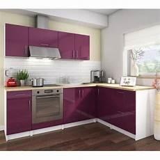 ikea cuisine complete cosy cuisine compl 232 te l 2m80 aubergine laqu 233 achat