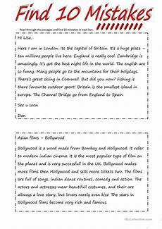 finding spelling errors worksheets 22387 79 free esl mistakes worksheets