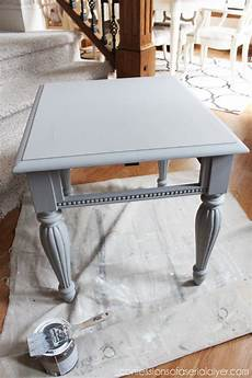 grey white painted side table confessions of a serial