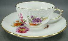 Kpm Berlin Painted Dresden Floral Butterfly Gold