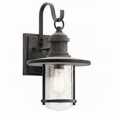 seeded glass outdoor wall light zinc kichler lighting 49193wzc destination lighting