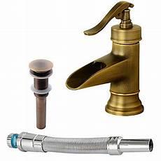 rubinetti rame set di rubinetti cascata rame anticato installazione