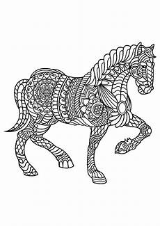 free to color for children trotting horses