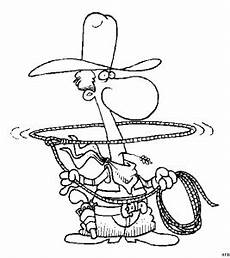 cowboy mit lasso ausmalbild malvorlage comics