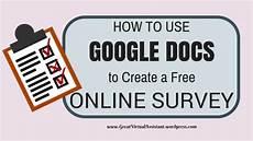 how to create online survey using google docs how to use google docs to create a free online survey