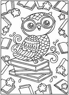 Ausmalbilder Eule Mit Buch Est Coruja Owl Coloring Pages Coloring Books Coloring
