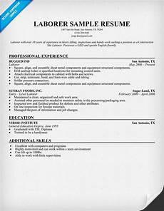 resume objective statements laborer general laborer