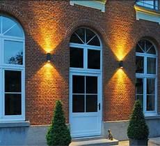 outdoor wall light enola c up down led black h23cm slv nedgis lighting