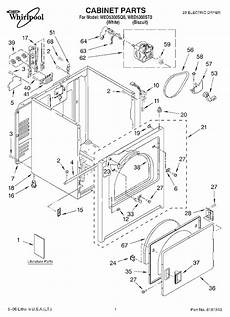 whirlpool wed5300sq0 dryer parts and accessories at partswarehouse