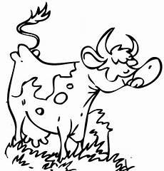 ausmalbild tiere kuh kostenlos ausdrucken