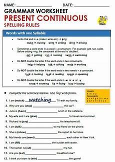 grammar worksheets present continuous tense 24932 worksheets present continuous show and text