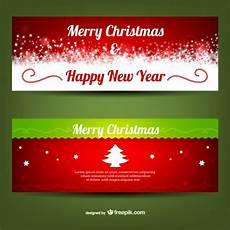 merry christmas banner templates free vector