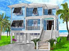 coastal house plans elevated plan 15244nc 4 bed coastal living house plan with