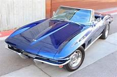 chevrolet corvette convertible 1967 blue for sale