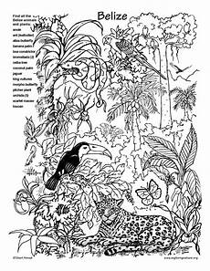 belize rainforest picture and coloring page