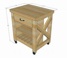 Kitchen Island On Wheels Plans by White Rustic X Small Rolling Kitchen Island Diy