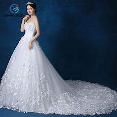 White Wedding Dress Gift 2017 new ivory white chagne high end wedding dress