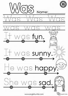 beginner worksheets 19292 beginning reading 16 was sight word worksheets learning sight words preschool sight words
